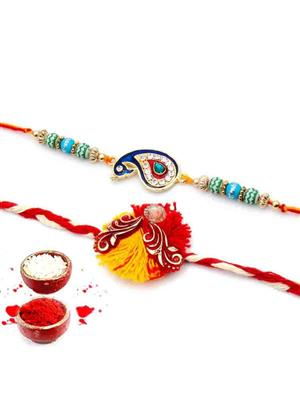 New Fancy Rakh n9  multicolor  men rakhi set of 2