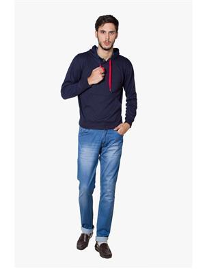 Lee Marc  Navy Blue Men Sweatshirts