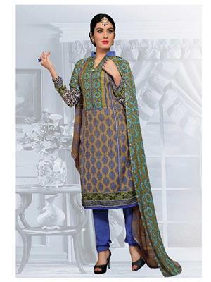 Nandi Enterpises ne430 Green Women Salwar Suit