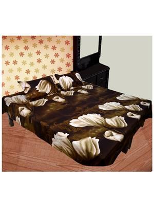Jazz New03 Multicolored Double Bedsheet With 2 Pillow Covers