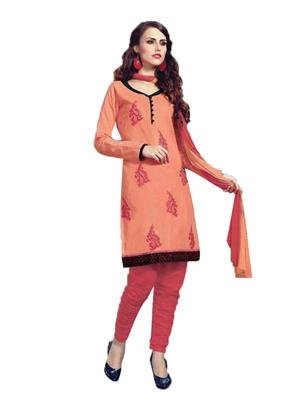 Karishma o1 Orenge  Women Dress Material