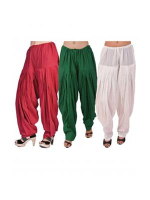 Stylobby Pat-Mw1 Multicolored Women Patiala Salwar Combo Pack