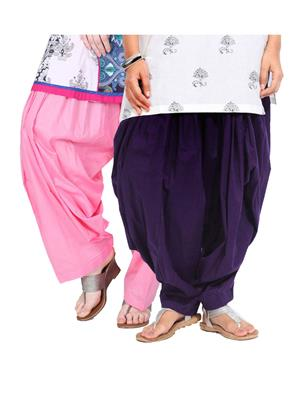 Stylobby Pat-Plp Multicolored Women Patiala Salwar Combo Pack