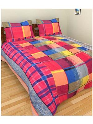 Jazz Pc6 Multicolored Double Bedsheet With 2 Pillow Covers