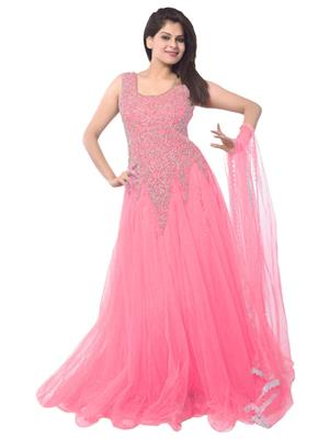 Om Shiv Tex pink Women Gown