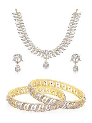 Penny Jewels pj-starneck26 Gold Women Jewellery Set With Bangles