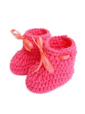Love Crochet Art Sb Pink Booties