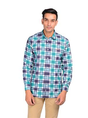 Riwas Collection R119-Turquoise Men Casual Shirt