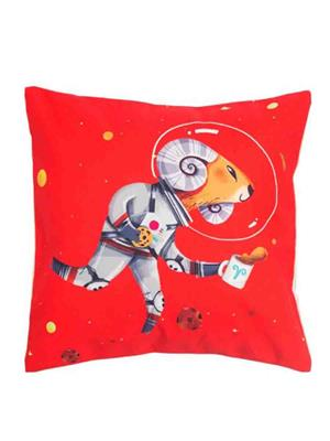 Decorize r1 Red Printed Cushion