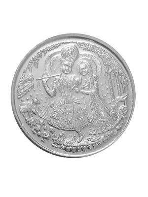 Love Bright Jewelry radha-krishna-dl-ag10  White Women Silver Coins