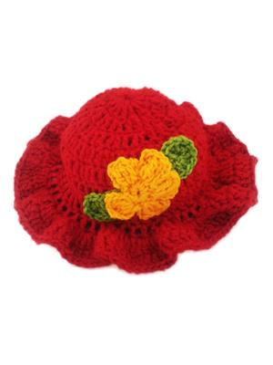 Love Crochet Art Red Cap