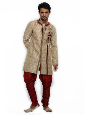 Swarnam 4015 Golden  Mens Ethnic Wear