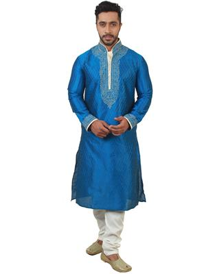 Swarnam  2034 Blue   Mens Ethnic Wear