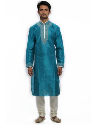 Swarnam  2034 Blue Mens Ethnic Wear