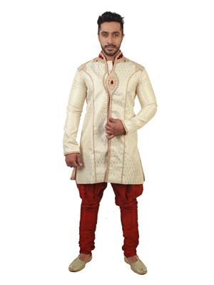 Swarnam  4014  Golden  Mens Ethnic Wear