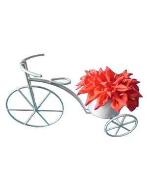 Shivam Shiv192Multicolor Lily Artificial Flower  With Pot