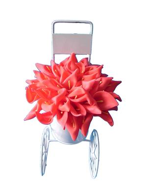 Shivam Shiv193Multicolor Lily Artificial Flower  With Pot
