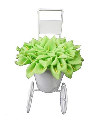 Shivam Shiv217Multicolor Lily Artificial Flower  With Pot