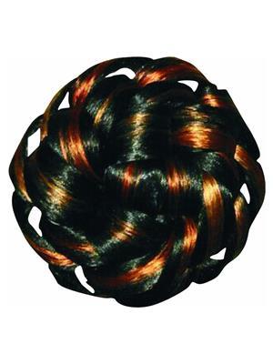 Raghav Enterprises Skb-37 Black Orange Women Hair Bun