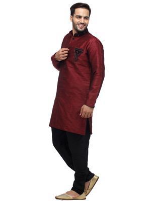 Swarnam 3030 Red  Mens Ethnic Wear