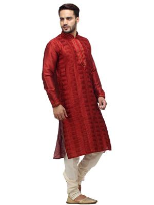 Swarnam 2005 Maroon  Mens Ethnic Wear