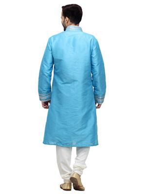 Swarnam 5858 Blue  Mens Ethnic Wear