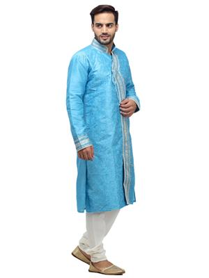 Swarnam 5858 Blue  Mens Ethnic Wear