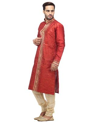 Swarnam 5858 Red  Mens Ethnic Wear
