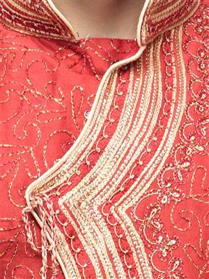Swarnam 5858 Red  Mens Ethnic Wear
