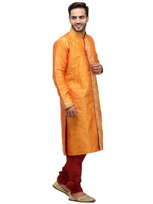 Swarnam 5858 Orange  Mens Ethnic Wear