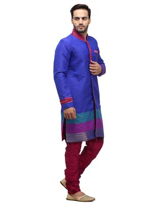 Swarnam 4003 Blue  Mens Ethnic Wear