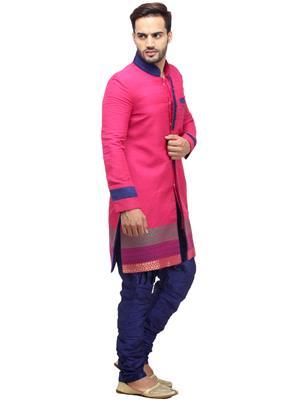 Swarnam 4003 Pink  Mens Ethnic Wear