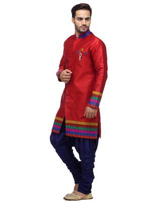 Swarnam 2026 Red  Mens Ethnic Wear