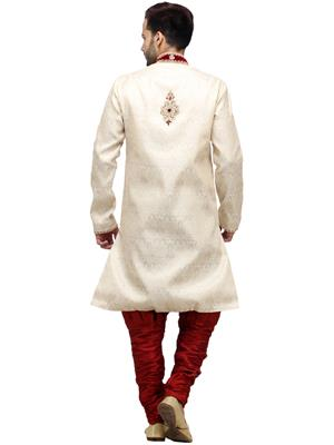 Swarnam 3012 White  Mens Ethnic Wear