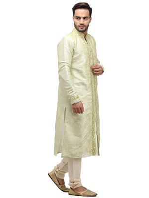Swarnam 2059 Creem Mens Ethnic Wear