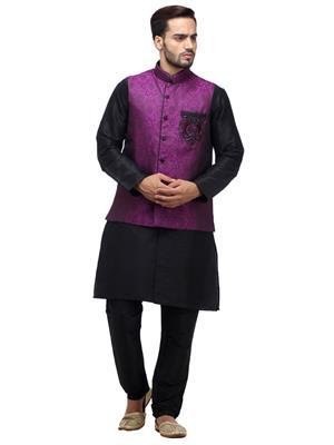 Swarnam 2012 Black & Purple  Mens Ethnic Wear