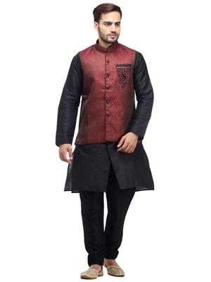 Swarnam 2012 Black & Brown Mens Ethnic Wear