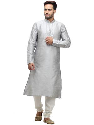 Swarnam 1006 Grey   Mens Ethnic Wear