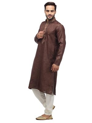 Swarnam 1004 Brown  Mens Ethnic Wear