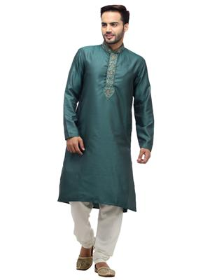 Swarnam 1004 Green  Mens Ethnic Wear