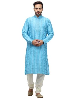 Swarnam 2004 Blue  Mens Ethnic Wear