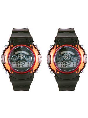 Mango People syn-Orange Sport Digital Watch Combo Pack