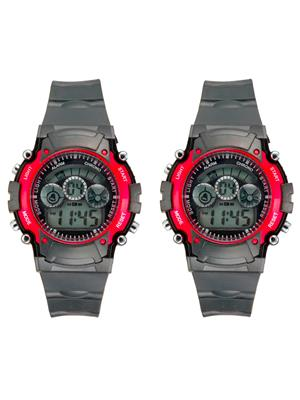 Mango People syn-Red Sport Digital Watch Combo Pack