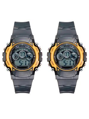 Mango People syn-Yellow Sport Digital Watch Combo Pack
