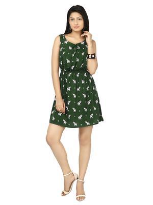 Track Deal Tddrs1458 Light Green Women Dresses