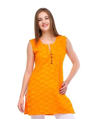 Track deal tdkrt0389 Yellow Women Kurti