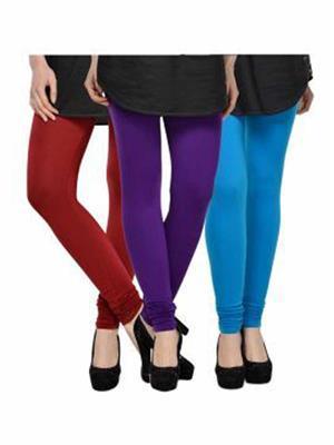 Trackdeal Tdlleggins130 Multicolor Women Legging Combo Of 3