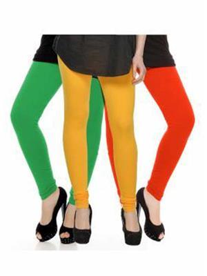 Trackdeal Tdlleggins139 Multicolor Women Legging Combo Of 3