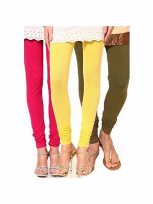 Trackdeal Tdlleggins180 Multicolor Women Legging Combo Of 3