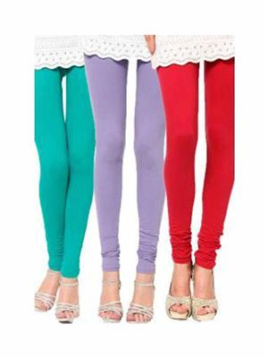 Trackdeal Tdlleggins185 Multicolor Women Legging Combo Of 3